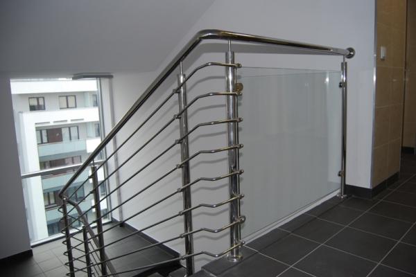 Balustrada stal nierdzewna polerowana Wrocław ul.Nyska